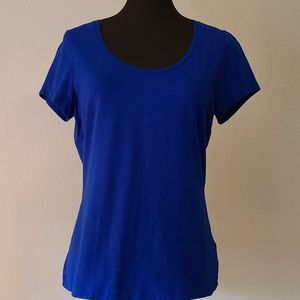 Lands End Blue Tee Size Small